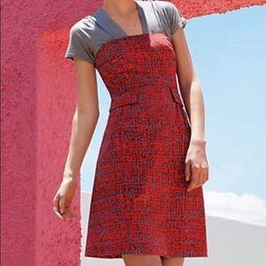 TABITHA Anthropologie Crosshatch Fit & Flare Dress